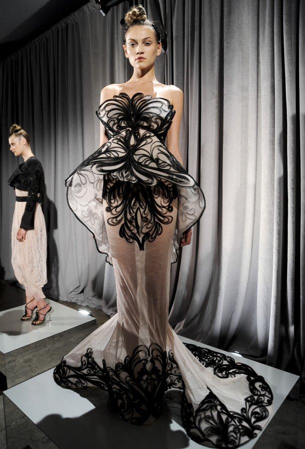 Платье Marchesa в стиле ар-нуво