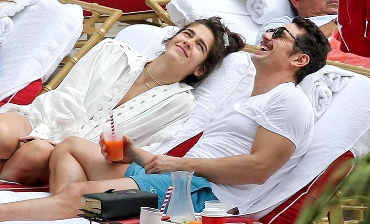 Джеймс Франко на отдыхе со своей девушкой Изабель Пакзад