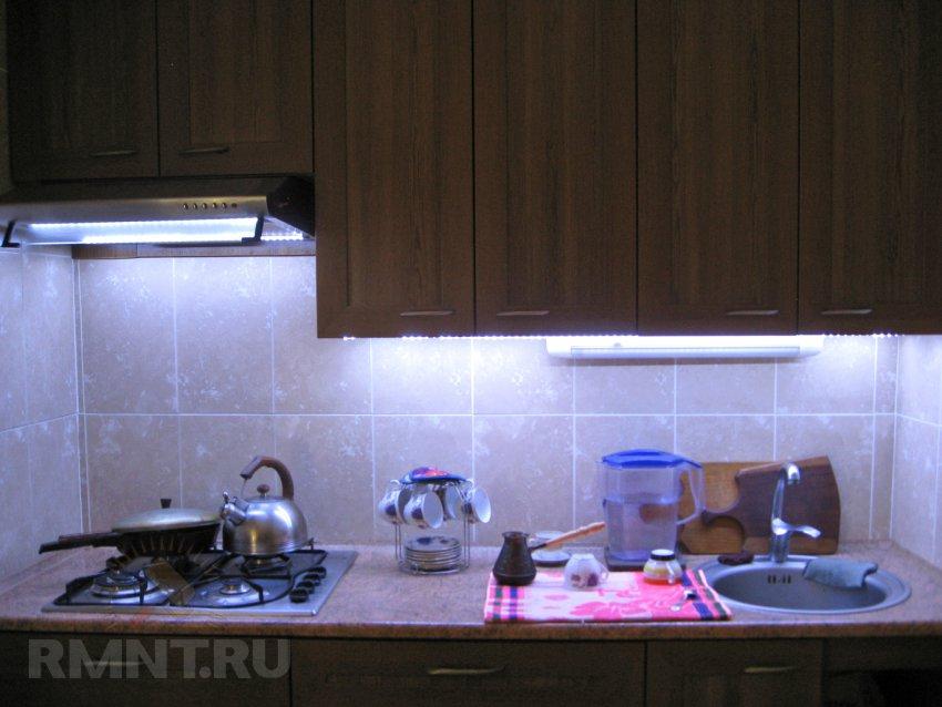 Подсветка рабочей зоны на кухне своими руками