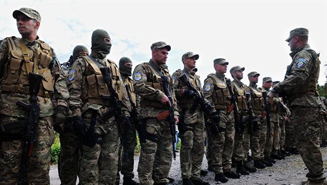 Украинских ветеранов войны в Донбассе поздравили клипом с ополченцами