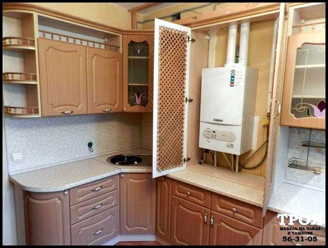 Дизайн кухни с газовым котлом