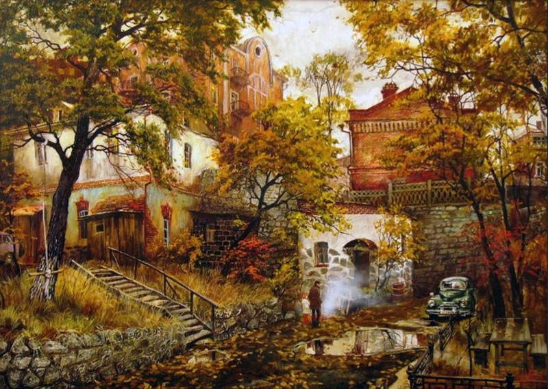 Очарование старого города в картинах Евгения и Оксаны Осиповых