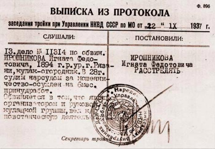 Такая мелкая бумага означала неминуемую смерть./Фото: kirgorshkov.pro