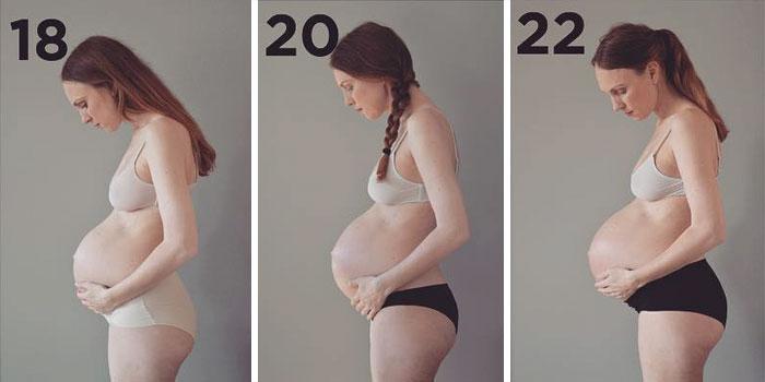 Как выглядит живот женщины б…