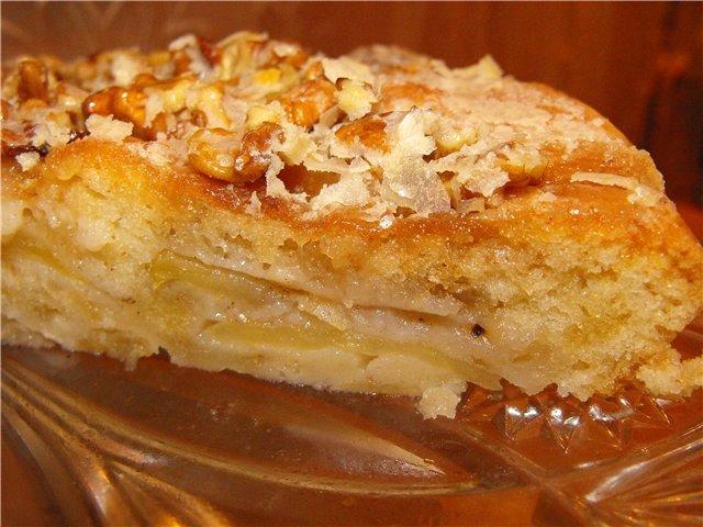 "Яблочный пирог на кефире ""как у бабушки"""