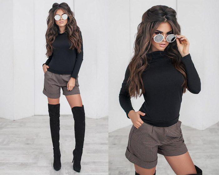Модные зимние шорты — женские секреты по созданию стильных луков в холода