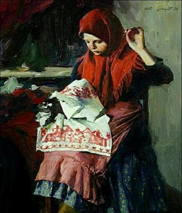Девочки к 10 годам выполняли всю женскую работу по дому.