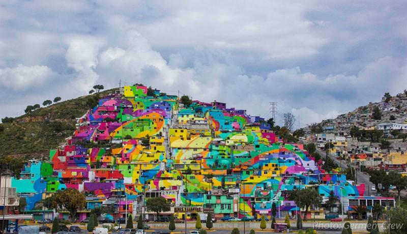Мексиканские власти попросили уличных художников разрисовать дома
