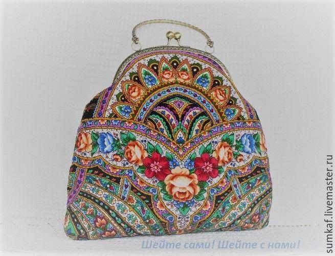 Шьем нарядную сумочку из павловопосадского платка