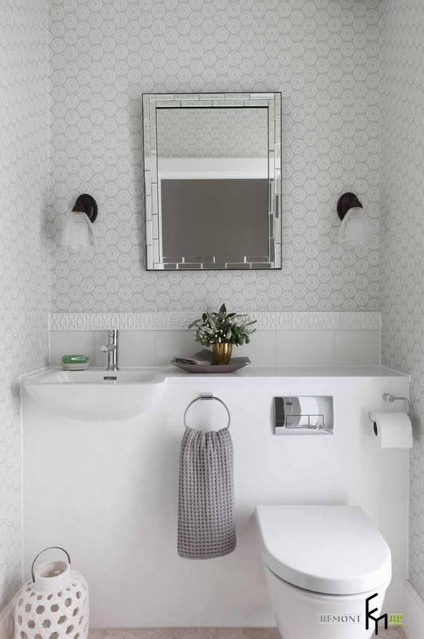 Бело-серебристый дизайн