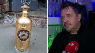Украденную бутылку водки за 1,1 млн евро нашли пустой на стройплощадке