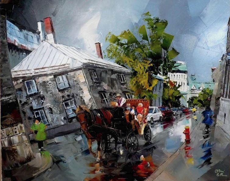 Канадский художник Albini Leblanc. Миниатюры мастихином. Десятая