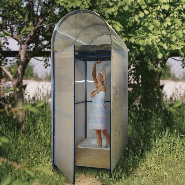 Летний душ для дачи - инструкция по постройке