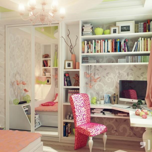 комната для молодой девушки дизайн