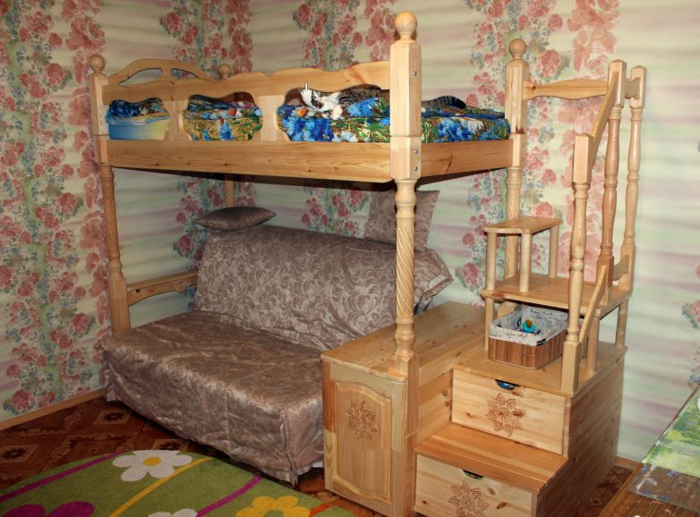Двухъярусная детская кровать своими руками