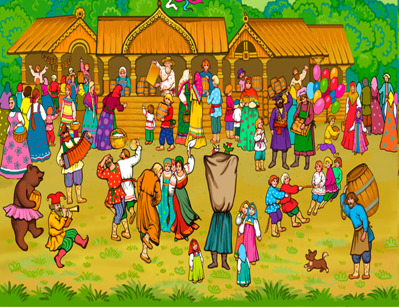 Щедрые традиционные ярмарки на картинах  русских художников