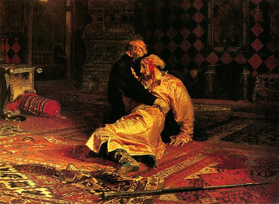 Картина Ильи Репина «Иван Грозный и сын его Иван 16 ноября 1581 года»