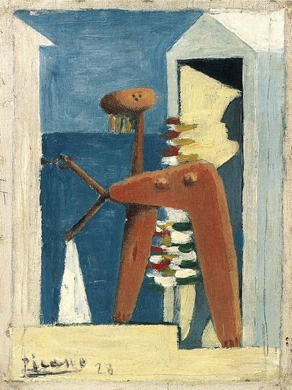 Пабло Пикассо. Купальщица у кабинки. 1928 год