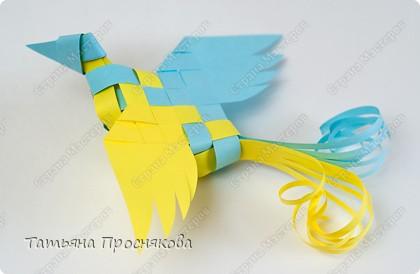 Мастер-класс Поделка изделие Плетение Плетёные птички Бумага фото 24