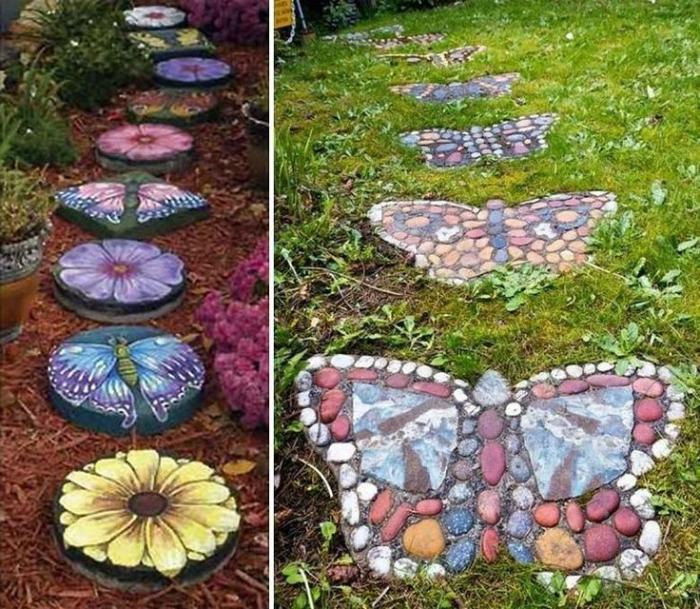 Плитка своими руками для сада и огорода