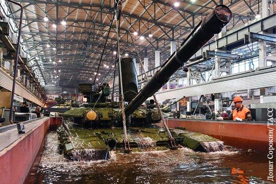 «Уралвагонзавод» показал испытание танка Т-90 «утоплением»