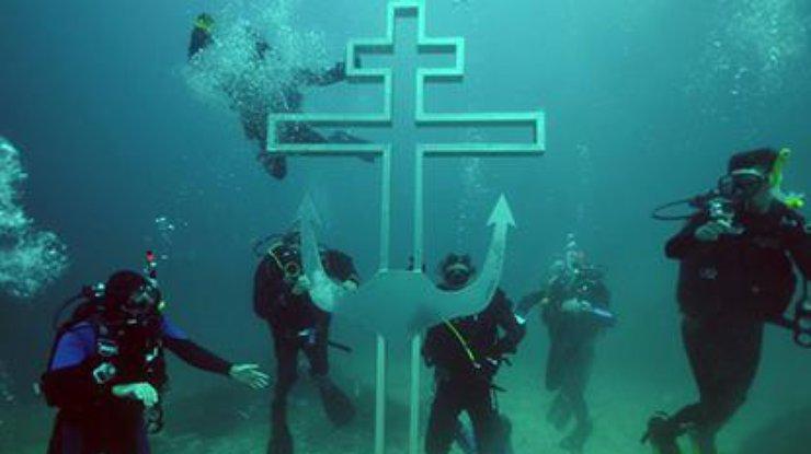 Поклонный крест на дне Черного моря. Ну зачем???