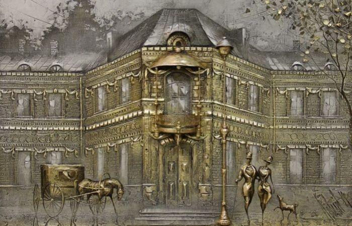 Картины маслом, которые многие принимают за чеканку по металлу или ковку