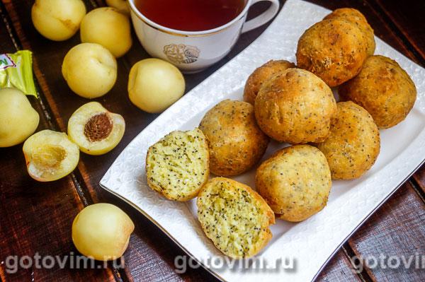 Пончики из творожного теста с маком. Фотография рецепта