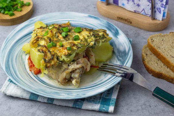 Куриные окорочка с овощами