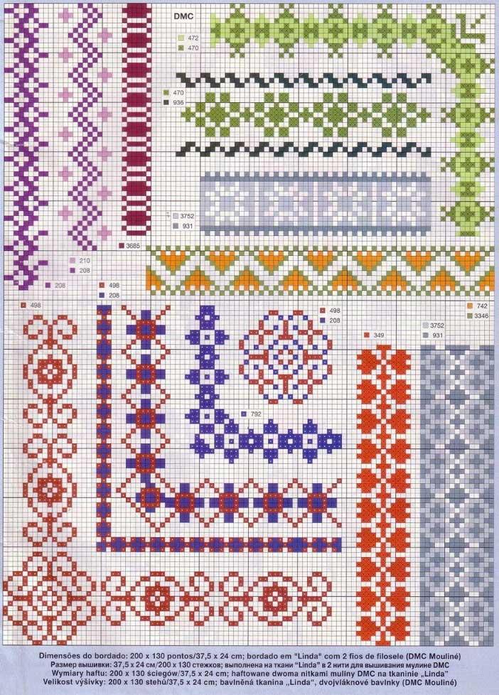 Схема вышивки рамка для