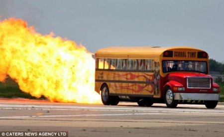 Авто - факт: в мире есть самый быстрый школьный автобус