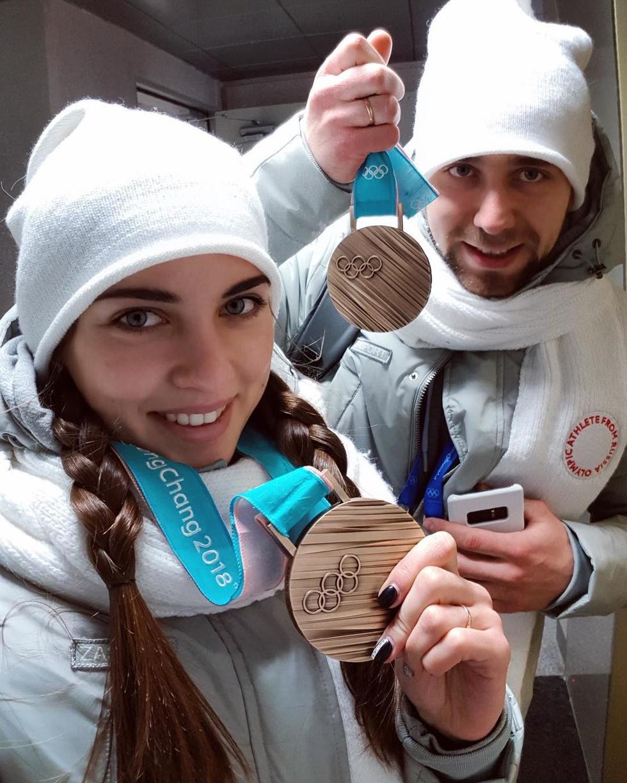 Анастасия Брызгалова с мужем и спортивным партнёром Александром Крушельницким. Фото: instagram/a_nastasia92