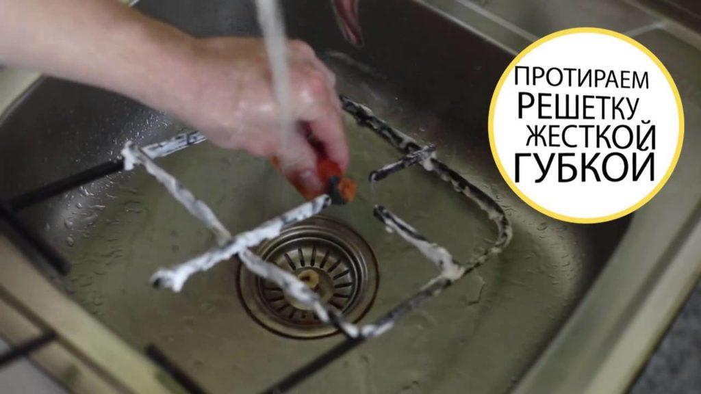 Чем чистить плиту и решетку, чтобы грязь и жир отмылись.