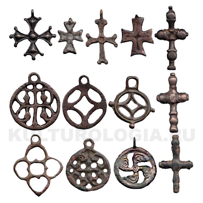 Несторианские кресты и подвески найденные на территориях Кыргызстана.