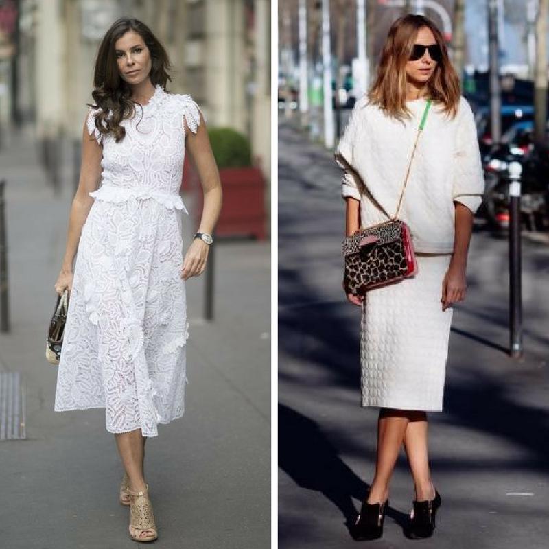 Девушки в белой одежде из фактурных тканей