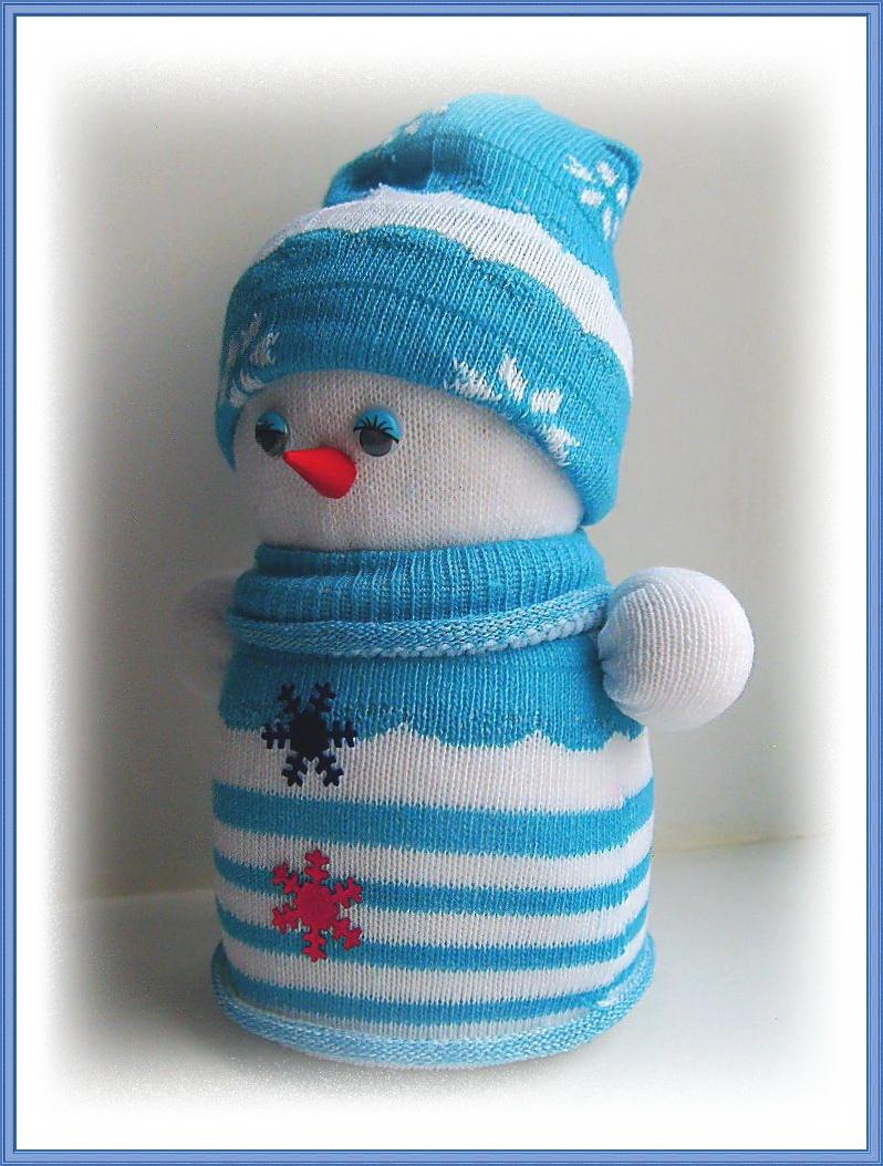 Новогодние снеговики своими руками для детского сада