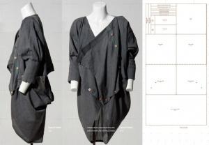 Авангардное платье из прямоугольника (выкройка)