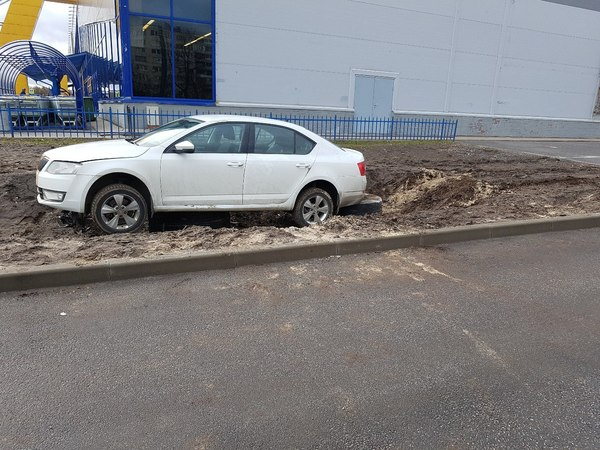 Любитель парковки на газоне
