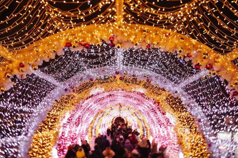 Москва, окутанная праздничным волшебством москва, новый год, праздник, рождество, россия, столица, фото