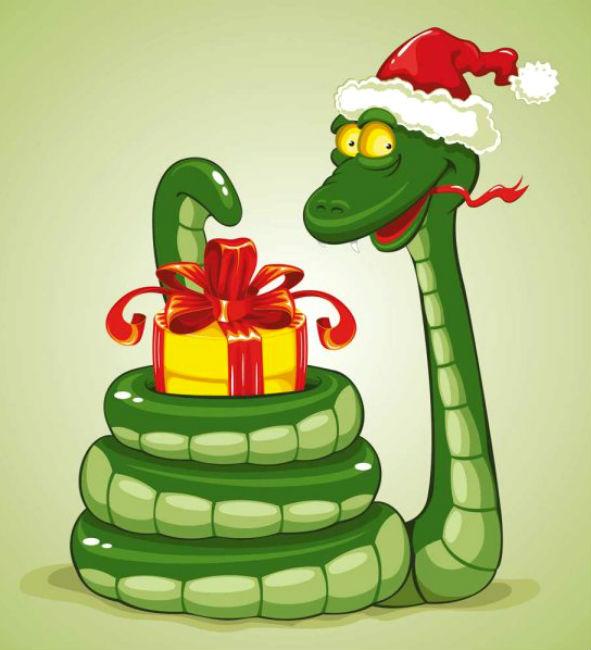 Флеш открытка с китайским новым годом змеи
