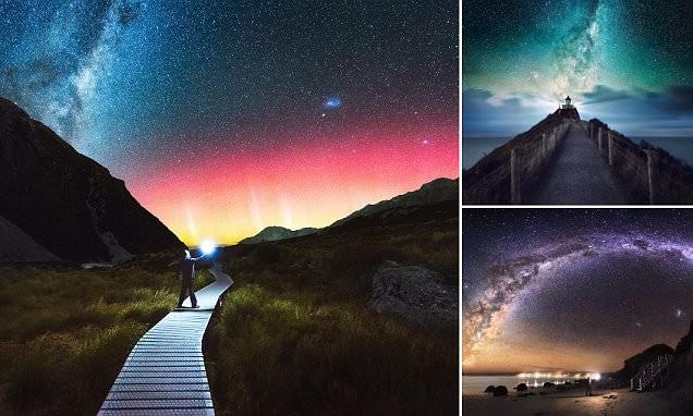 Неземная красота млечного пути над Новой Зеландией