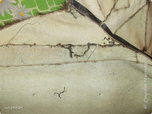Гардероб Мастер-класс Шитьё Ремонт шубы из натурального меха Клей Мех Нитки Ткань фото 11