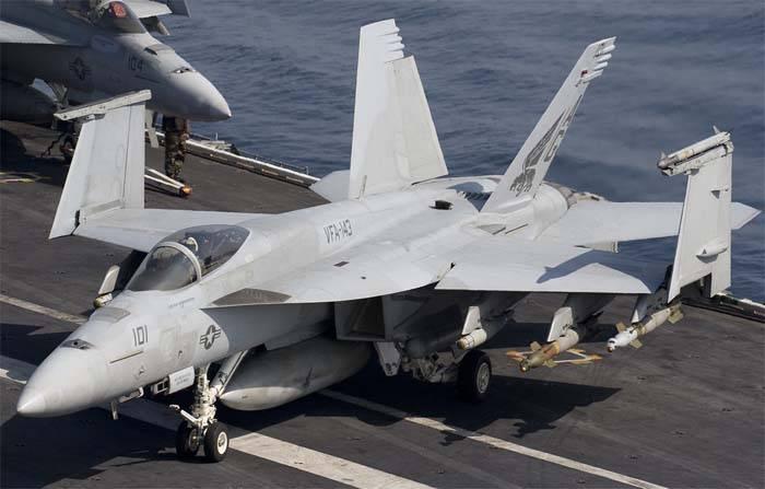"Потерпел крушение F/A-18E Super Hornet с авианосца ""Карл Винсон"""