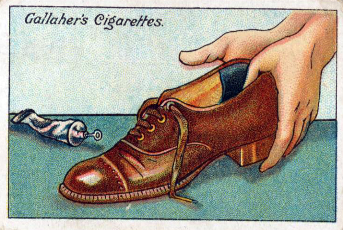 Уменьшить большие ботинки.