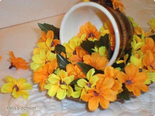 Мастер-класс Поделка изделие Флористика День рождения Цветочная кружечка Клей фото 1