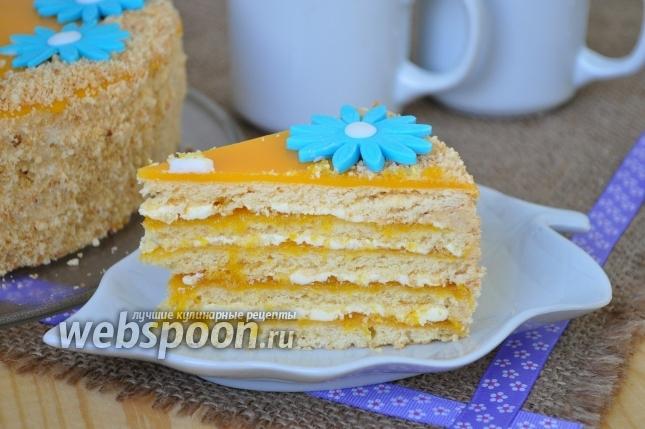 Песочный апельсиновый торт