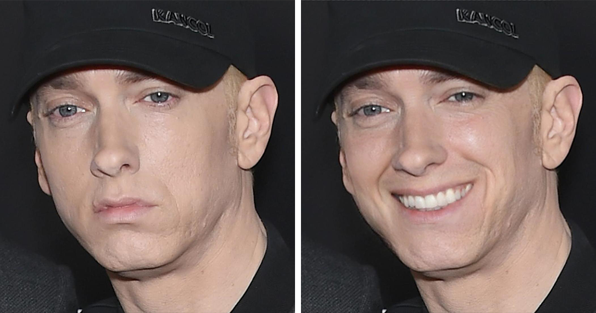 """Eminem Never Smiles So I Made Him:"" Guy Photoshops Eminem's Pics And It's Too Funny"