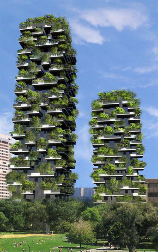 Озеленение города с помощью вертикального леса - путь которым пошел Милан