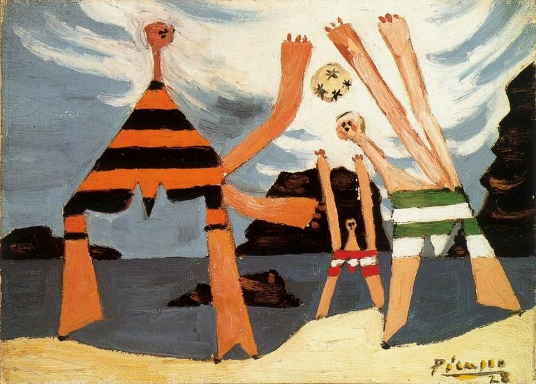Пабло Пикассо. Купальщицы  с мячом 3. 1928 год