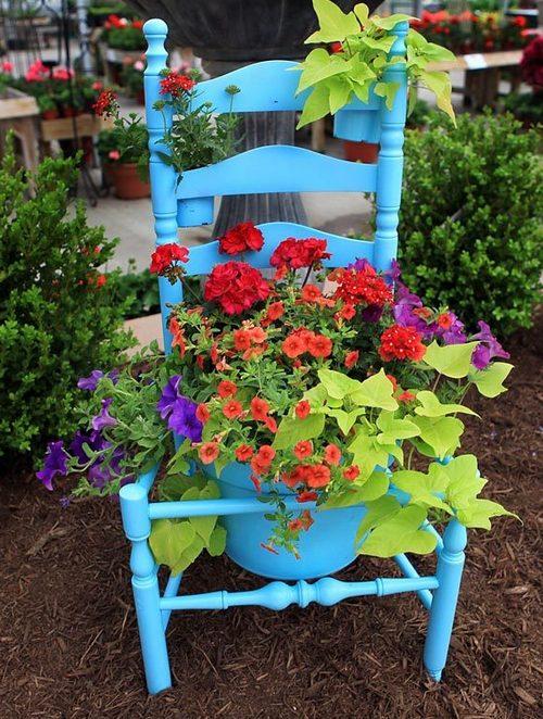 как украсить дачный участок цветами